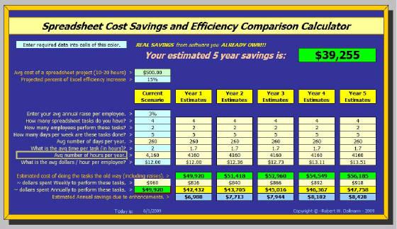 money saving spreadsheet
